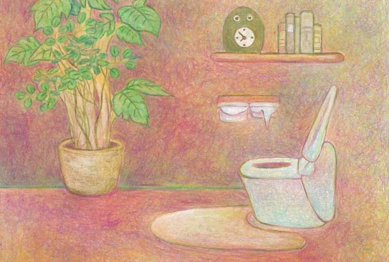 ピンクのトイレ