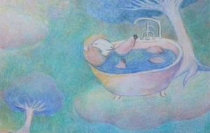 水色の世界の羊 - 伊藤恵美里