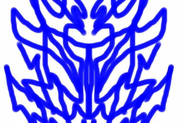 マウス青ドラゴンマーク