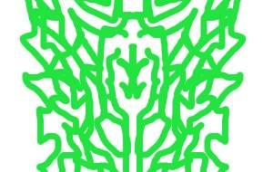 マウス緑ドラゴンマーク - 池田 旬