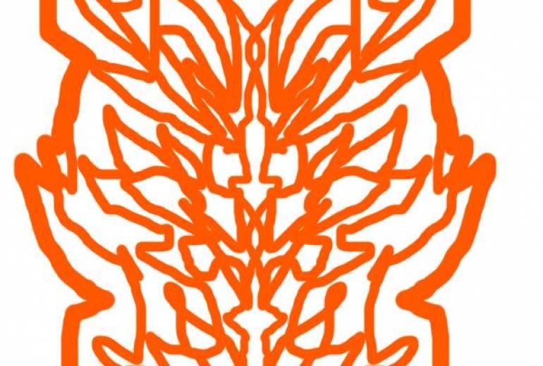 マウス橙ドラゴンマーク