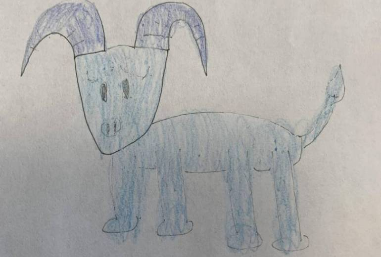 幻覚でみた牛