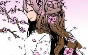 桜が、まい、桜の髪飾りの少女 - トゥー・A・ルルカ
