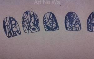 爪にアート - しょも