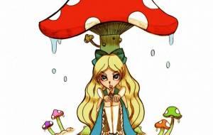 アリスとキノコ - 苺飴