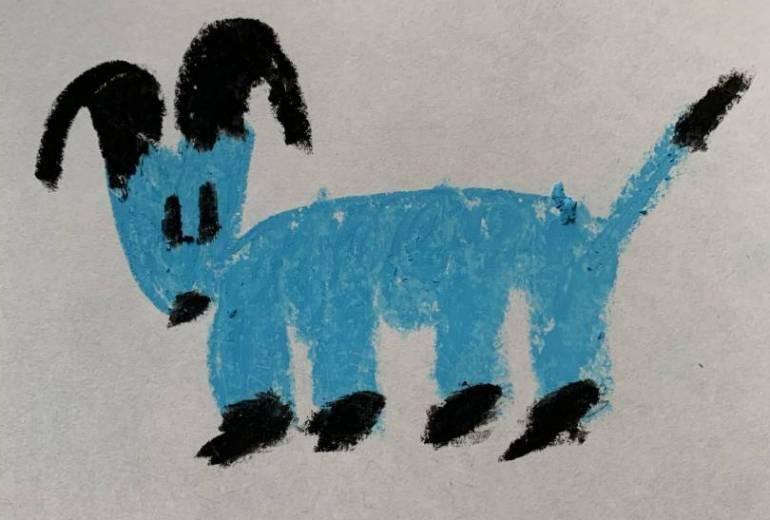 幻覚の水色の牛