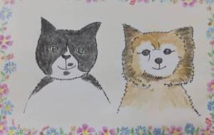 愛猫のお友達 - かいこ