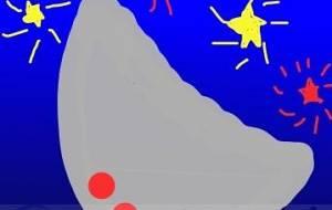 シルバー月と明るい星たち - トゥー・A・ルルカ