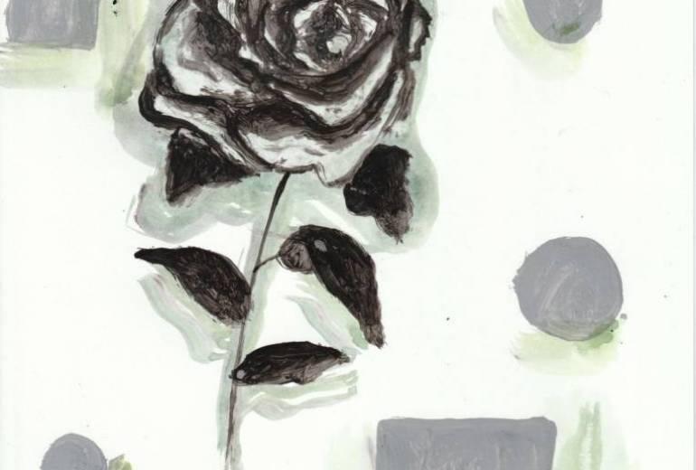 薔薇のある構成