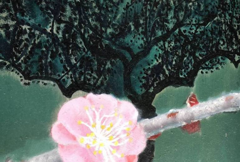 幻想的梅の花