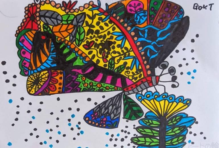 リン粉を撒く蝶々